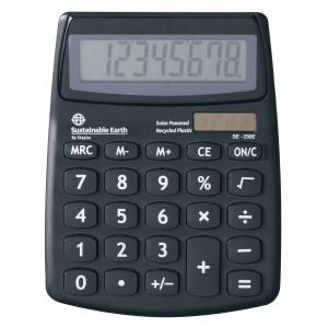 Sustainable Earth By Staples Calculator Se-230E Desktop 8 Digit Solar Powered