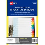 Avery Pre-printed Dividers - Rainbow Jan-Dec Tabs