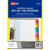 Avery Pre-printed Dividers - Rainbow Jan-Dec Tabs