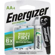 Energizer Recharge Extreme 1.2V NiMH AA Battery Pack 4