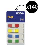 Winc Flags Mini 12x43mm Assorted Colours Pack 140