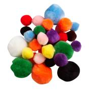 Colorific Fluffy Pom Poms Assorted Sizes Standard Colours Bag Of 150