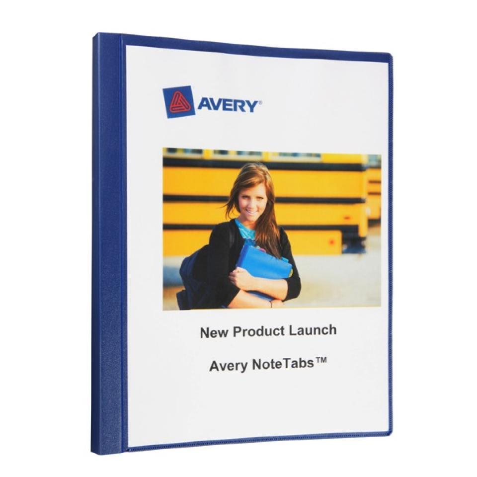 Avery Insert Cover Display Books Navy 30 Pocket