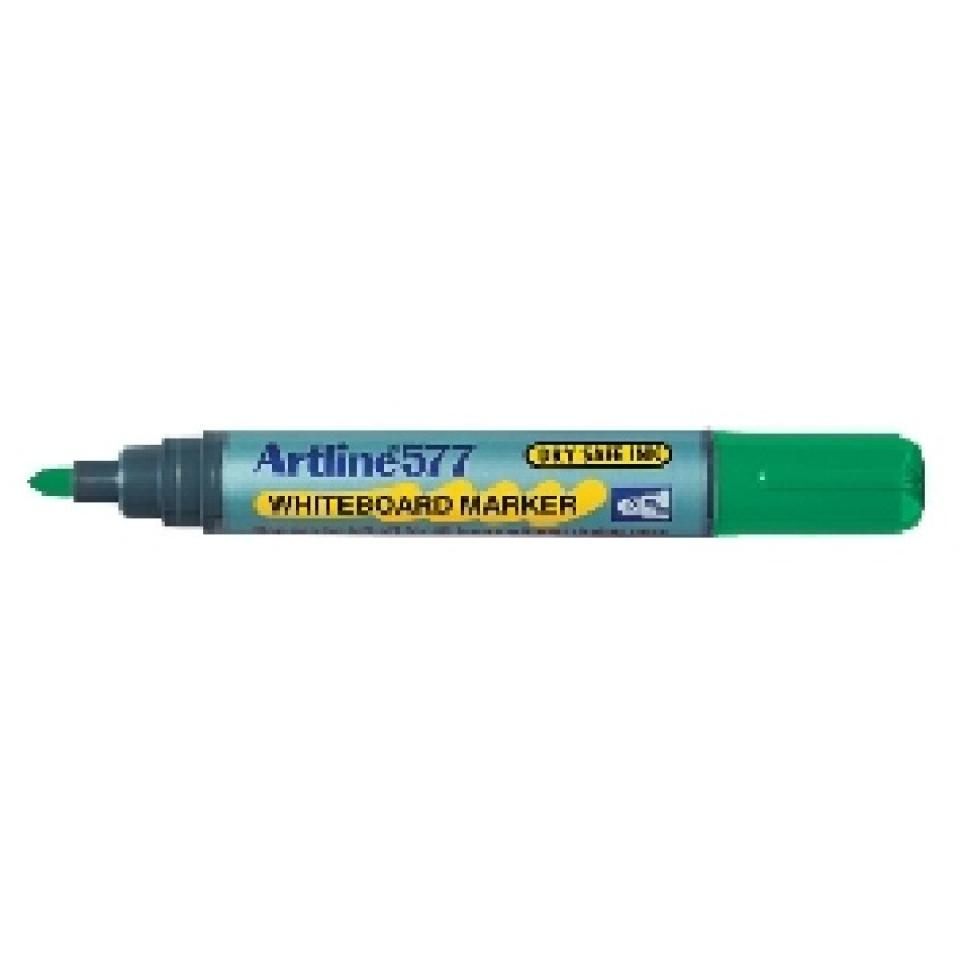 Artline 577 Whiteboard Marker Bullet Tip 2.0mm Green