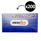 Mediflex Nitrasoft Nitrile Gloves Powder Free XL Box 200