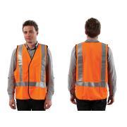 Prochoice Orange Day / Night Vest Use With H Back Pattern Reflective Tape