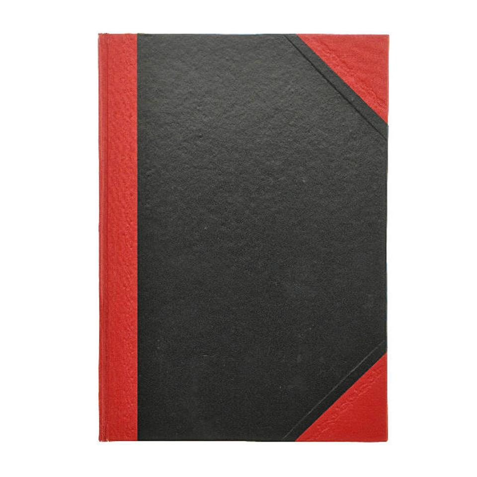 Cumberland Notebook A4 Hardcover Ruled 200 Page Red & Black