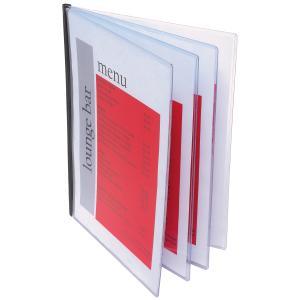 Marbig A4 Bound Document Protector Rigid PVC 4 Pockets