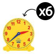 Educational Colours Student Clocks 10cm Diameter Set 6