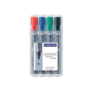 Lumocolor Flip Chart Marker Assorted Colours Wallet 4