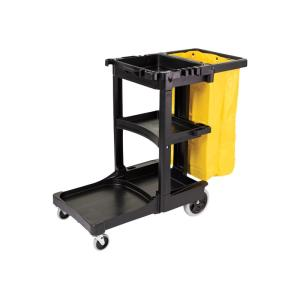 Rubbermaid 6173-88 Cleaning Cart With Zip Yellow Vinyl Bag