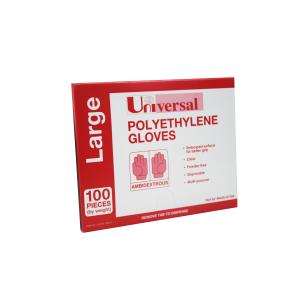 Universal Polyethylene Gloves Large Pack 100