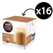 Nescafe Dolce Gusto Coffee Capsules Cafe Au Lait Box 16