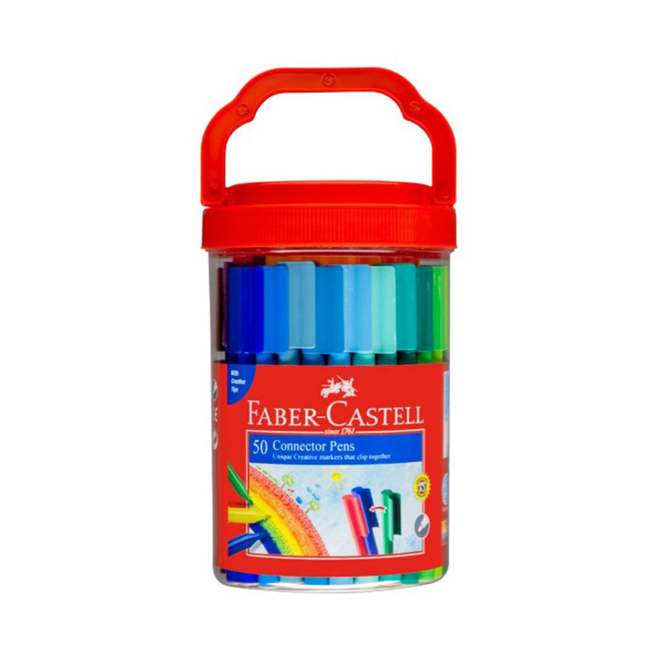 Faber-castell Connector Pens Assorted Colours Pack Of 50