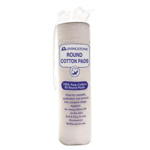 Livingstone Cospad Cotton Cosmetic Pad Round Pack 80