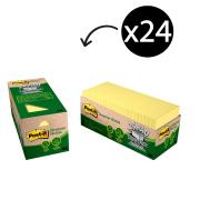 Post-It Greener Notes 76 x 76mm Cabinet Canary Yellow Pack 24