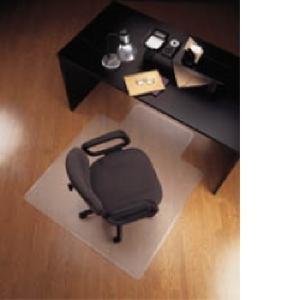 Marbig Chairmat Economat PVC Key Hole Style Hard Floor 1340l x 1140wmm Glass Clear