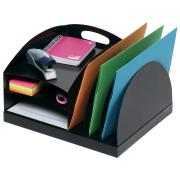 Marbig Desktop 2 Way Organiser Metal Black