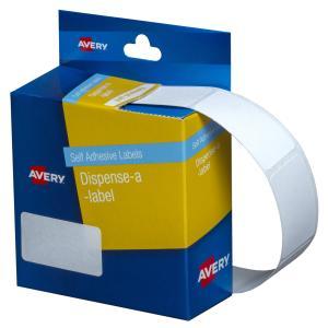 Avery White Rectangular Dispenser Labels - 36 x 19mm - 450 Labels - Hand writable