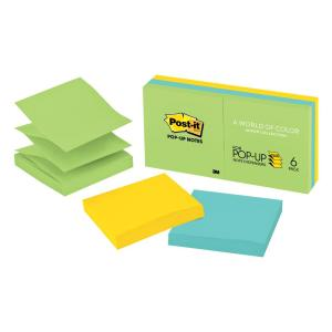 Post-It Pop-Up Notes Jaipur Collection 76 x 76mm Pack 6