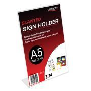 Deflect-O 47501 Menu/Sign Holder A5 Slanted