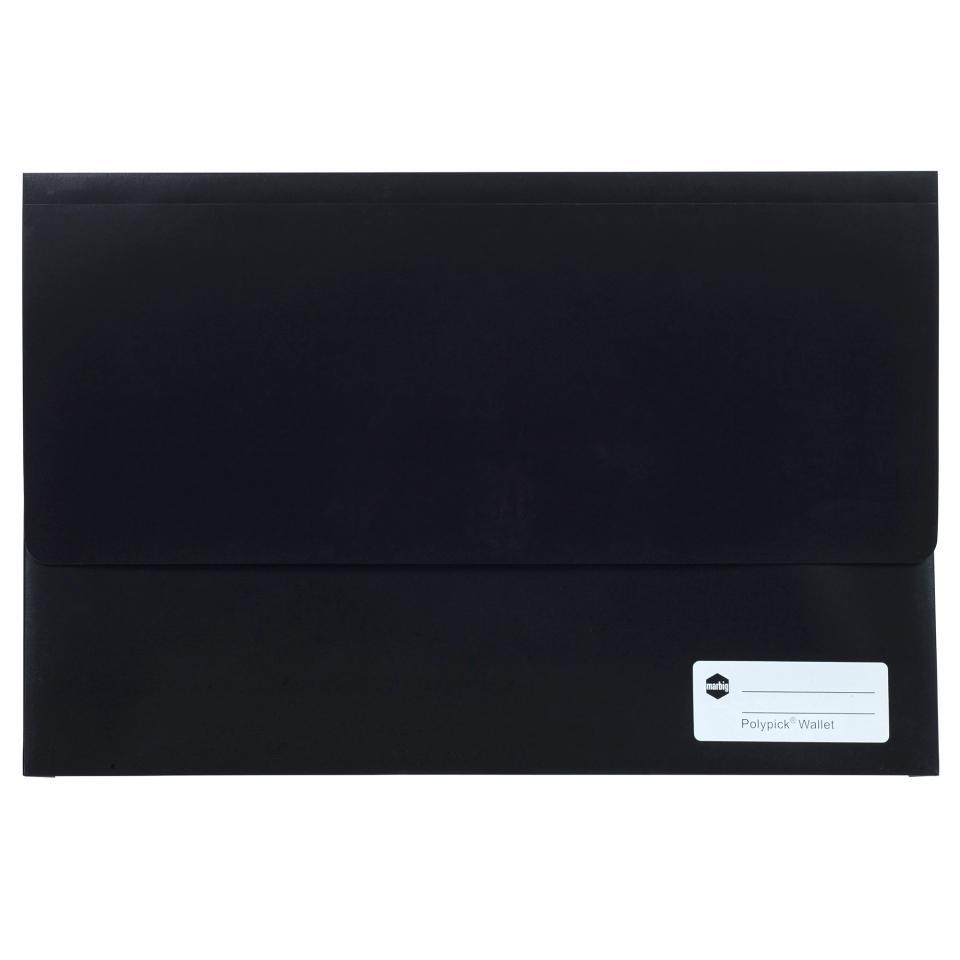 Marbig Polypick Wallet Foolscap Black