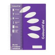 Colourhide My 5-Subject Notebook A4 250 Page Purple