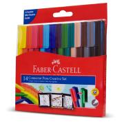 Faber-Castell Art Set Connector Coloured Markers Assorted Pack 14