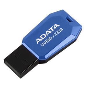 ADATA DashDrive UV100 Slim Bevelled 32 GB USB 2.0 Flash Drive - Blue