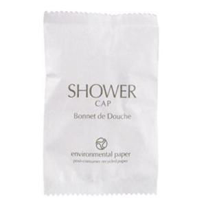 Eco Fresh Shower Cap In White Paper Erp Sachet Ctn 250