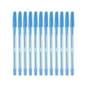 Simply Tinted Stick Ballpoint Pen Medium 1.0mm Blue Box 12