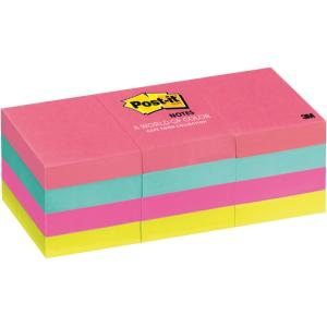 Post-It Super Sticky Notes Cape Town Collection 36 x 48mm Pack 12