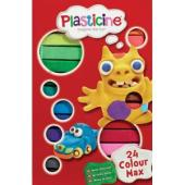 Plasticine Modelling Clay 24 Colour Max Pack Of 24
