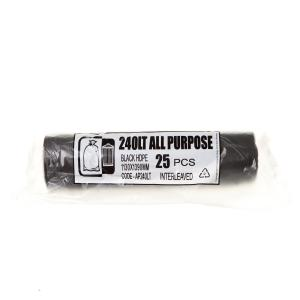 Austar Bin Liners All Purpose 240 Litre Black Roll 25 Carton 200 Image