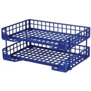 Esselte Celestial Collpsible Trays Blue Pack 2