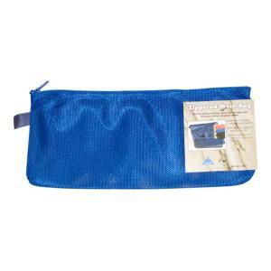 Colby Nylon Mesh Zippered Pencil Case Blue