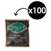 Serenitea Infusions Organic Peppermint Enveloped Pyramid Tea Bags Pkt 100