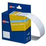 Avery White Rectangular Dispenser Labels - 24 x 19mm - 650 Labels - Hand writable