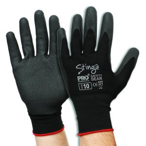 Prosense Npf-7 Gloves Stinga PVC Foam Nylon Liner Black Pair
