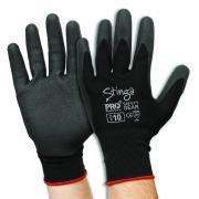 Prosense Npf-7 Gloves Stinga PVC Foam Nylon Liner Black Pair