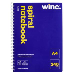 Winc Spiral Notebook No. 336 A4 240 Pages