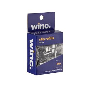 Winc Clip Refills Large Stainless Steel Box 50
