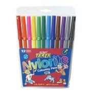 Texta Nylorite Pens Coloured Markers Assorted Pack 12