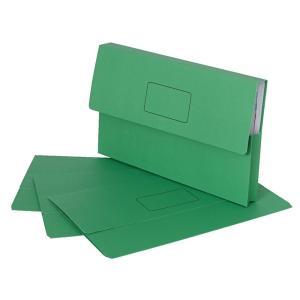 Marbig Slimpick Document Wallet Foolscap Bright Green Pack 10