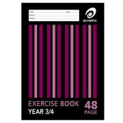Olympic Exercise Book A4 QLD Ruling Stapled Year 3/4 48 Pages