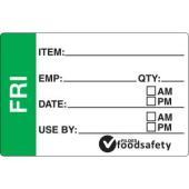 FFSA Dissolvable Prep Label Friday 49 x 75mm Roll of 250