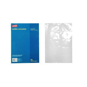 Staples Business Card File A4 Sheet 10 Capacity Refill Pack 10