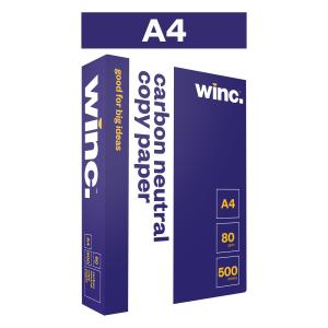 Winc Copy Paper Carbon Neutral 80gsm A4 White Ream 500 Box 5