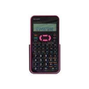 Sharp EL-531XH Scientific Calculator - Black/Pink Image