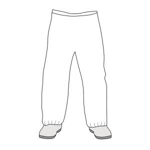 Microgard 2000 Style 20-301 Disposable Overtrouser Size XL White Each